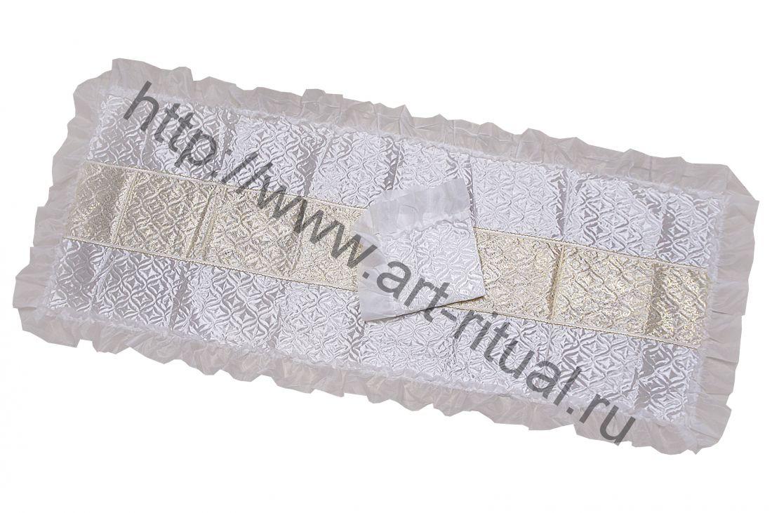 МСК-57/1. Комплект стежка с оборкой шелк и вставка принт-вензеля