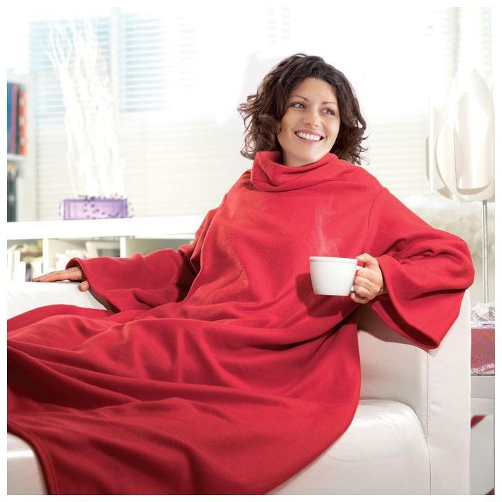 Одеяло-Плед С Рукавами Snuggie (Снагги), Цвет Красный