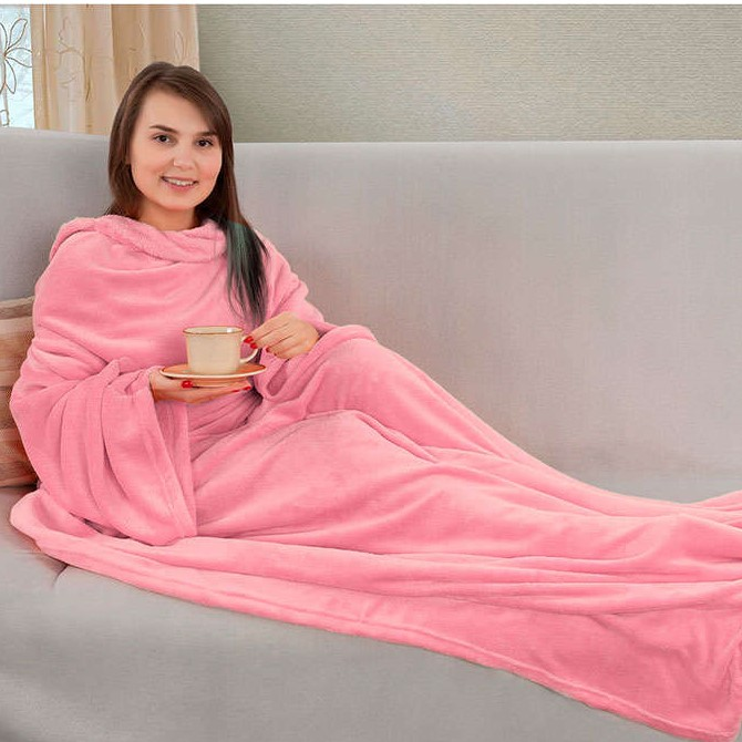 Одеяло-плед с рукавами Snuggie (Снагги), цвет розовый