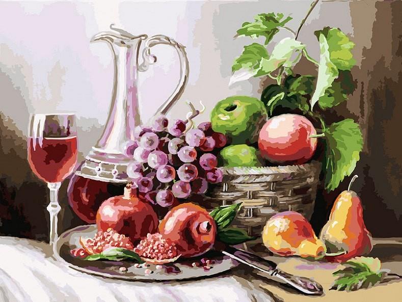 """""""Натюрморт с фруктами"""" живопись на холсте 30*40см"""