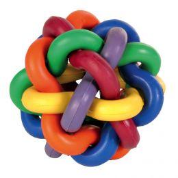 Игрушка для собак Узловой мячик с бубенчиком 7см