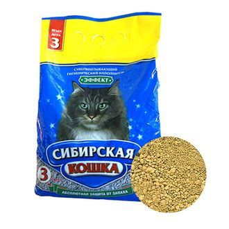 Наполнитель д/туалетов Сибирская кошка Бюджет 3л Впитывающий
