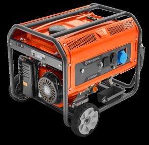 Генератор Husqvarna G5500P (Двигатель Husqvarna, 389 cм3, ручной запуск +электростартер, 5.5 кВт (макс.), 230В, 50Гц, 1 фаза)