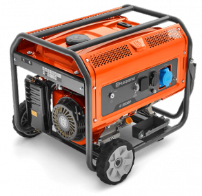 Генератор Husqvarna G5500P (Двигатель Husqvarna, 389cм3, ручной запуск + от аккумулятора (опция), 5.5 кВт(макс.), 230В, 50Гц, 1 фаза, преобразователь 12В)