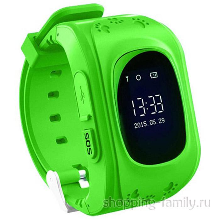 Умные детские часы с GPS Smart Baby Watch Q50 зеленые