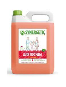 Средство биоразлаг. для мытья посуды, детских игрушек SYNERGETIC с ароматом арбуза, 5л