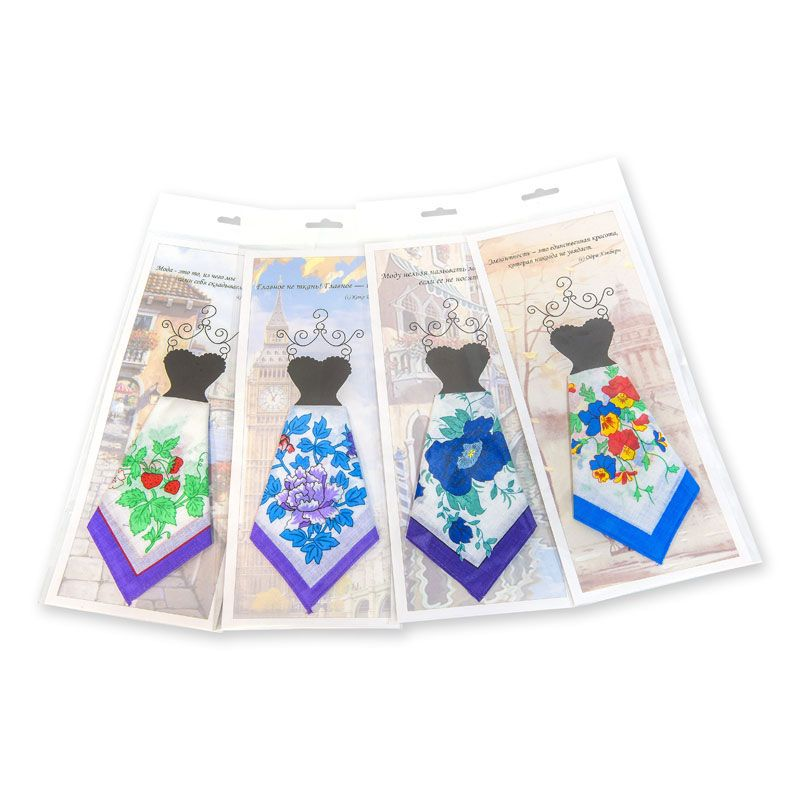 Подарочный женский носовой платок Пс01 100% х/б