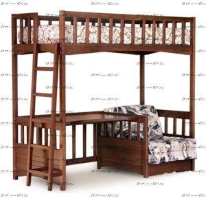 Кровать-чердак домик IR6