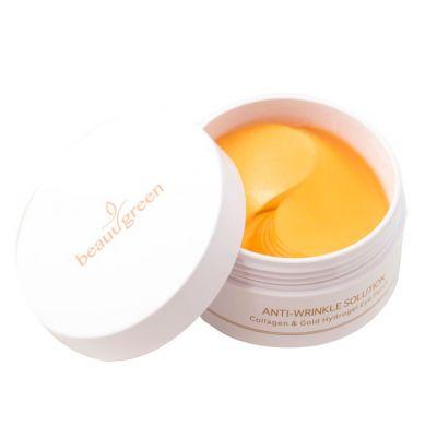BeauuGreen Гидрогелевые патчи для кожи вокруг глаз с коллагеном и золотом 60 шт 90 гр