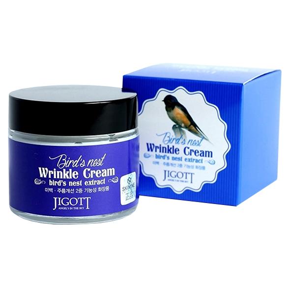 Jigott Wrinkle Cream Bird's Nest Антивозрастной крем с экстрактом ласточкиного гнезда 70 мл