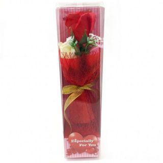 Подарочное мыло в виде букета роз в пластиковой упаковке Especially for You, 28 см, Цвет: Красный