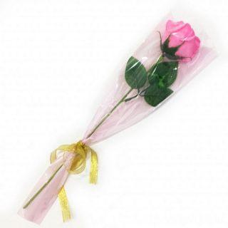 Роза из парфюмированного мыла Soap Flower, 39 см, Цвет розы: Светло-розовый