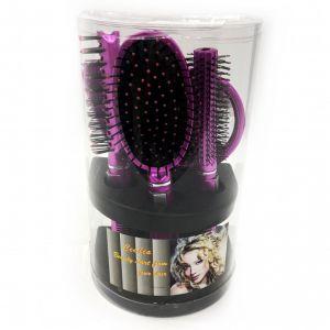Подарочный набор расчесок для волос Cecilia, 5 шт цвет сиреневый