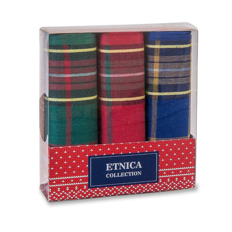 Пд56 Мужские носовые платки в подарочной коробке, 3 шт., 100% х/б