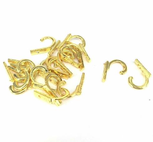 Крючок для ключницы одинарный, золото, 2,6 см