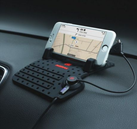 Автомобильный держатель для телефона на торпеду Remax Super Flexible RC-FC1 Lightning+micro USB