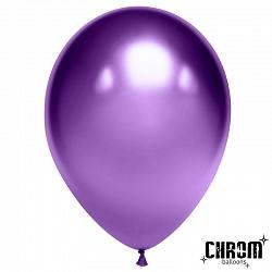 """Шар (12""""/ 30 см), фиолетовый, хром, 50 шт"""