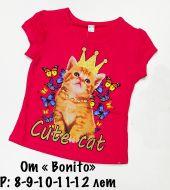 """Футболка детская  """"CUTE CAT"""" 8-12 лет №BN705"""