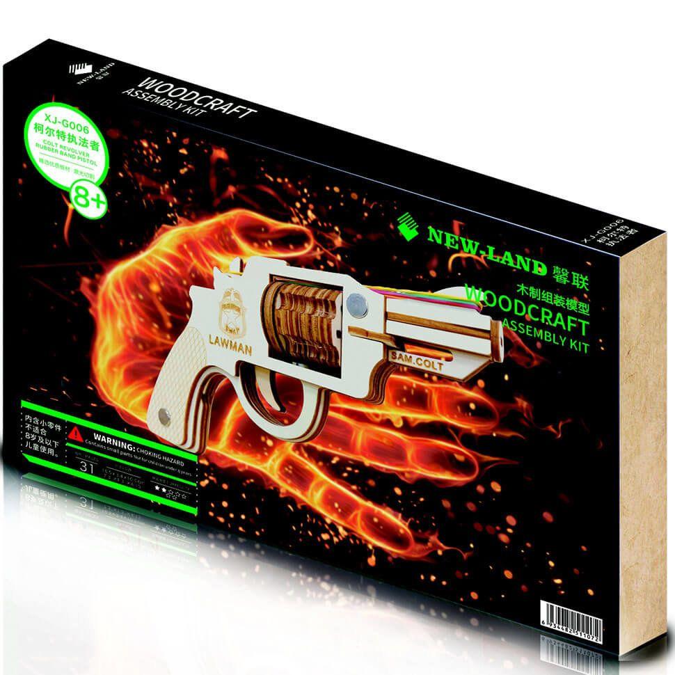 Пистолет Кольт деревянный 3D пазл