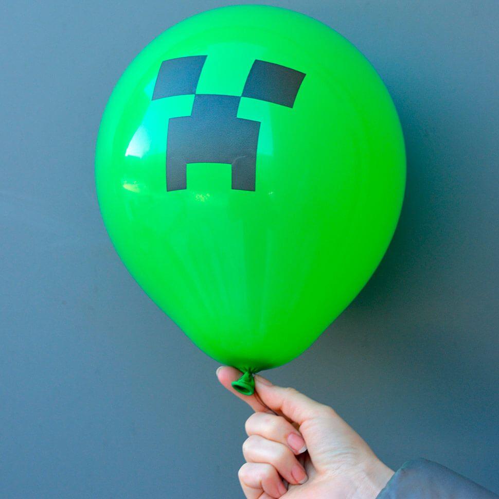 Упаковка 100 воздушных шаров Майнкрафт