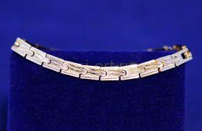 Позолоченный браслет с имитацией алмазной гравировки (арт. 880193)