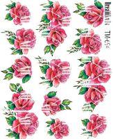 Слайдер-дизайн «Розы» TM - 694 Dream Nails (водные наклейки)