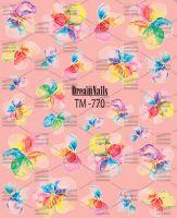 Слайдер-дизайн «Цветочки» TM - 770 Dream Nails (водные наклейки)