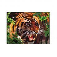 """Раскраска по номерам """"Большой тигр"""", А3 (арт. Р-5825)"""