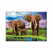"""Раскраска по номерам """"Семья слонов"""", А3 (арт. Р-5480)"""