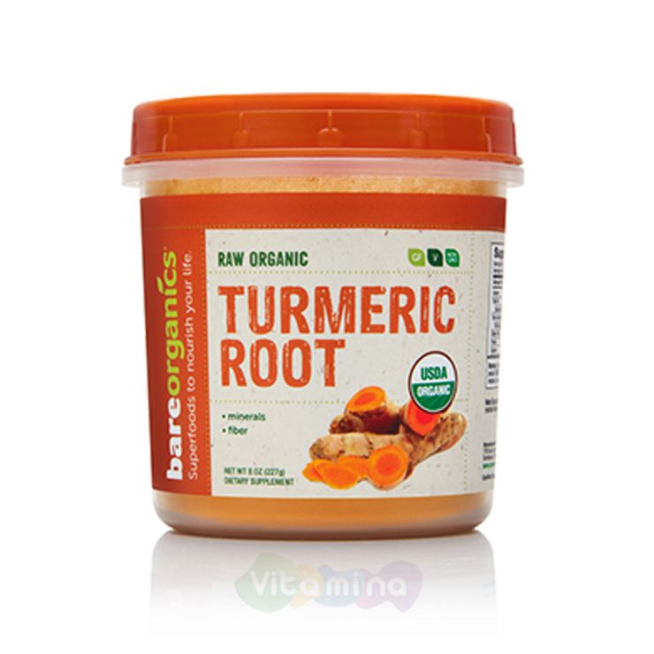 BareOrganics Порошок из корня куркумы Turmeric Root Powder (Raw - Organic)