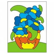 """Раскраска блёстками """"Цветы"""", А5 (арт. Р-4367)"""