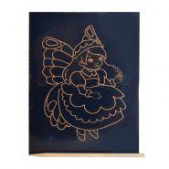 """Гравюра в пакете с ручкой """"Золото. Милая фея"""" 13х17 см (арт. Г-7841)"""