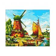 """Алмазная мозаика """"Голландский пейзаж"""", 50х60 см, без подрамника, с частичным заполнением (арт. ACJ006)"""