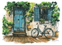 Почтовая открытка Фасады Испании