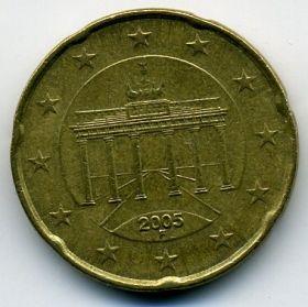 Германия 20 евроцентов 2005 F
