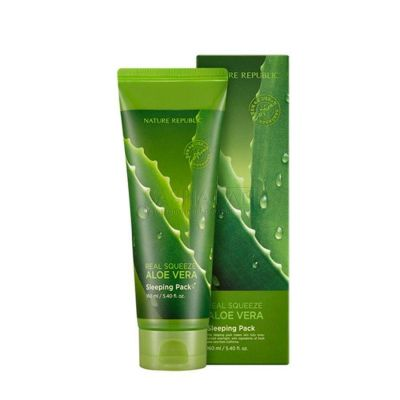 Nature Republic Маска ночная для лица с экстрактом алоэ REAL SQUEEZE ALOE VERA SLEEPING PACK 160мл