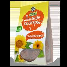 Крекеры льняные с ПОДСОЛНЕЧНИКОМ, 50 г