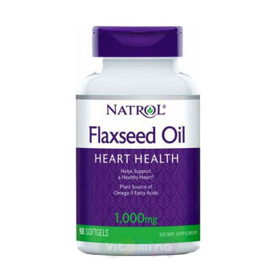 Natrol Льняное масло 1000 мг Flax Seed Oil