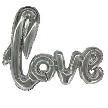 """Надпись """"Love"""", серебро, 41""""/ 104 см, Китай"""