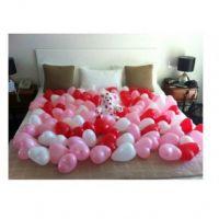 Воздушные шарики-сердечки 100 шт