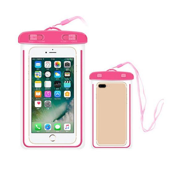 Водонепроницаемый чехол-пакет для телефона, цвет розовый