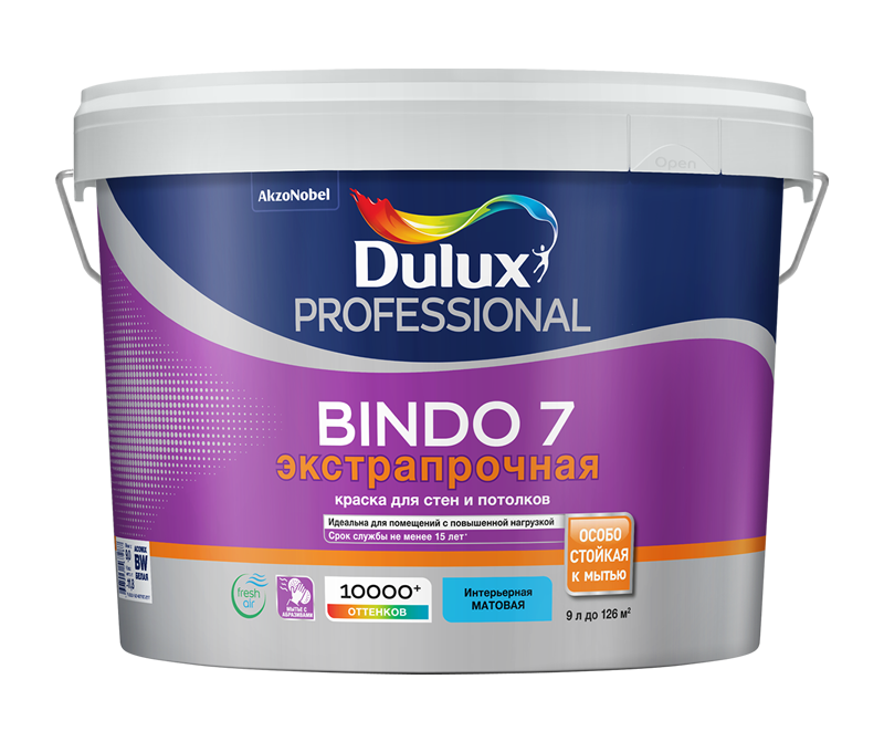 Dulux Prof Bindo 7 New 2018 матовая краска для стен и потолков