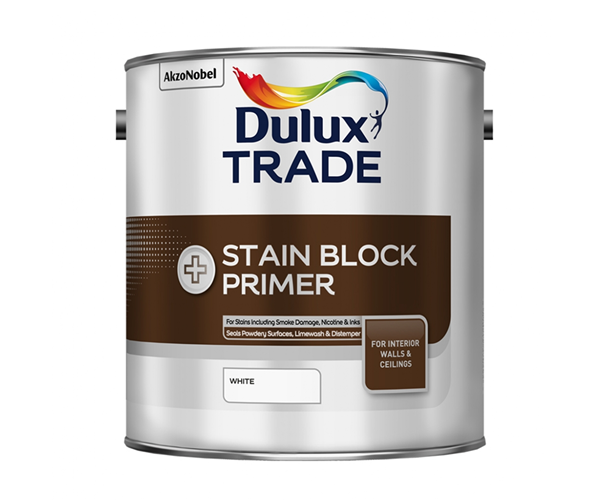 DULUX STAIN BLOCK PLUS грунтовка для блокировки старых пятен, белая