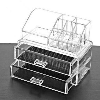 Акриловый органайзер для косметики Cosmetic Storage Box, 2 Ящичка