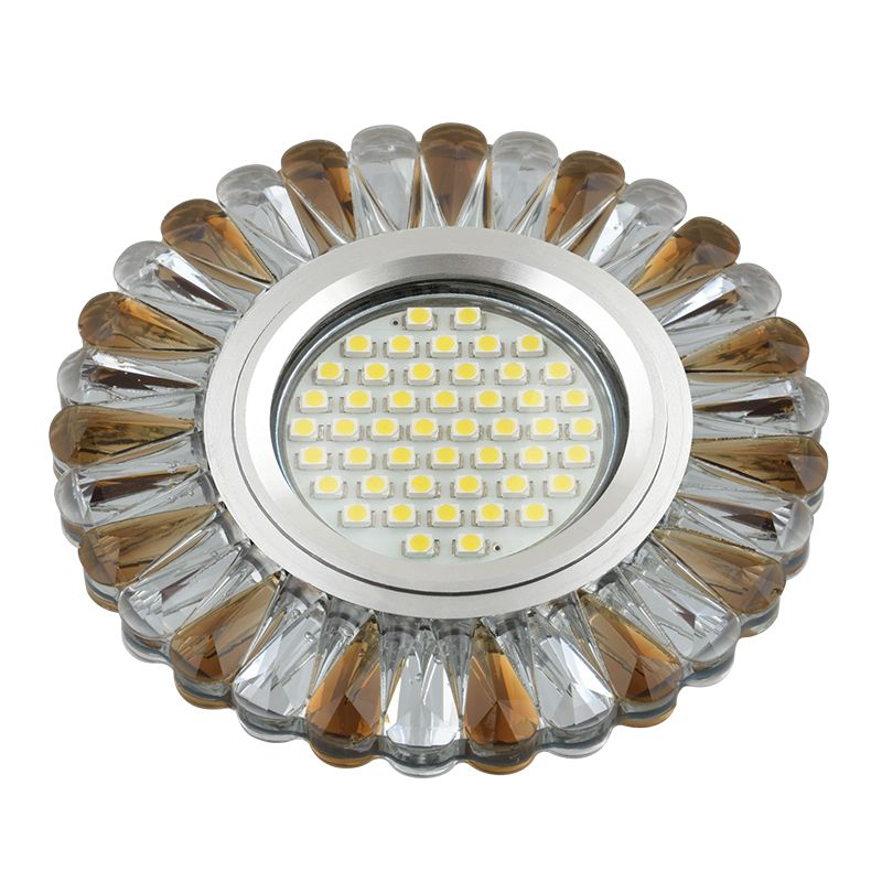 Встраиваемый светильник Fametto DLS-L145 прозрачный/светло-коричневый
