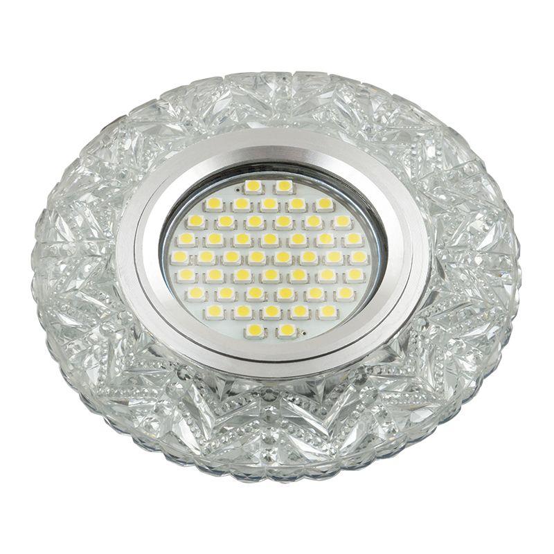 Встраиваемый светильник Fametto DLS-L146 прозрачный/зеркальный