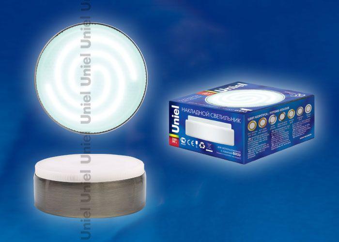 Встраиваемый светильник Uniel GX53/FT ANTIQUE BRASS