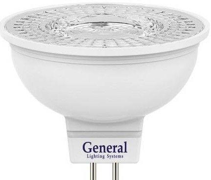 Светодиодная лампа General MR16 GU5.3 8W 6500К 6K 50x48 пластик/алюм с рефлект. 110° 636300