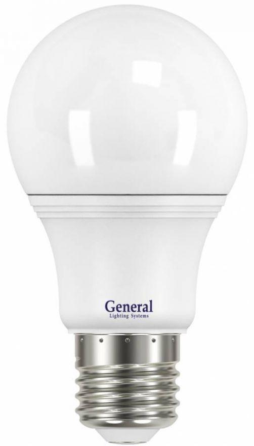Светодиодная лампа General ЛОН A60 E27 11W(920lm) 4500K 4K 60x110 пластик/алюмин. 636800