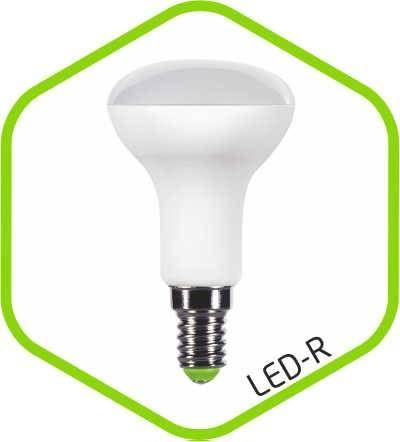 Светодиодная лампа ASD R50 E14 5W 3000K 2K 85x50 пластик/алюм standard 1531